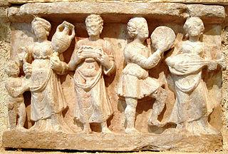 Hellenistic banquet scene