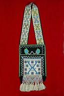 beaded carrying bag of the Anishinaabe