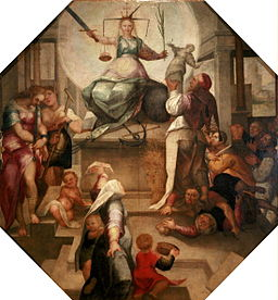 English: Allegory of Justice Object type Painting Date circa 1560 Medium oil on canvas Current location Strasbourg Historical Museum