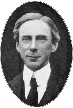 Bertrand Russell portrait.