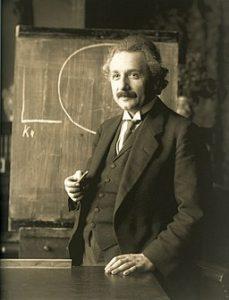 Albert Einstein during a lecture in Vienna in 1921 by Ferdinand Schmutzer [Public domain], via Wikimedia Commons