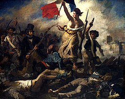 Liberty Leading the People wikidata:Q29530 Description Romantic history painting. Commemorates the French Revolution of 1830 (July Revolution) on 28 July 1830.