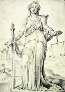 Justice, by Maarten van Heemskerck [Public domain], via Wikimedia Commons