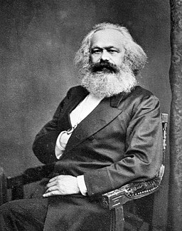 A portrait of Karl Marx. Date before 24th August 1875