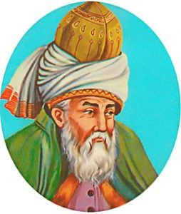 Rumi's image on a tile. Yeni Qapi, Istanbul