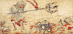 Extermination of Evil, Part of the set of five hanging scrolls Extermination of Evil depicting benevolent deities who expel demons of plague.