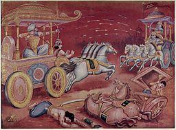 fight between Bhisma and Arjuna
