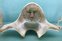 Inuit whale bone art on display at the Carnegie Museum of Natural History in Pittsburgh, PA.