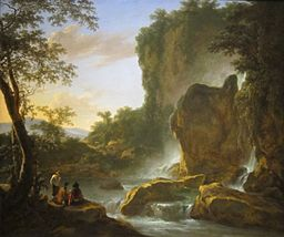 Jan Both talianate Landscape with an Artist Sketching from Nature Date between circa 1645 and circa 1650