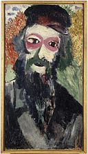 By Musée d'art et d'histoire du Judaïsme (Own work) [CC BY-SA 4.0 (https://creativecommons.org/licenses/by-sa/4.0)], via Wikimedia Commons The Father, Marc Chagall, Paris (1911) Musée d'art et d'histoire du Judaïsme