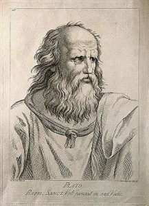 Plato. Etching by D. Cunego, 1783, after R. Mengs after Raphael.
