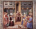 St Augustine Teaching in Rome By GOZZOLI, Benozzo [Public domain], via Wikimedia Commons