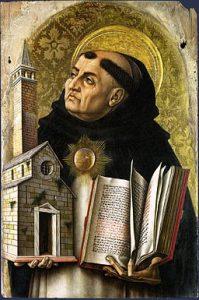 St Thomas Aquinas, Carlo Crivelli [Public domain], via Wikimedia Commons