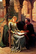 Abelard and his pupil Heloise by Edmund Leighton [Public domain], via Wikimedia Commons