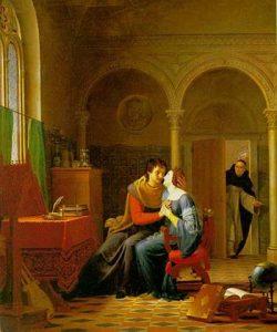 Les Amours d'Héloïse et d'Abeilard, by Jean Vignaud (1819). Oil on canvas. {{PD-art}}