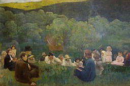 The Sermon on the Mount (1896), Károly_Ferenczy. Hungarian National Gallery, Budapest