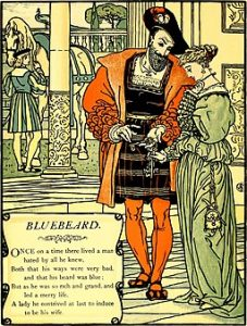 Bluebeard from a fairytale collection