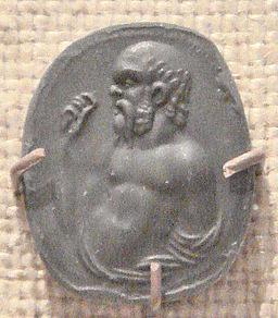 Socrates Carnelian Gem Imprint Rome, 1stBCE1stCE.
