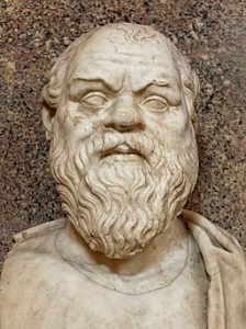 Bust of Socrates. Marble, Roman copy after a Greek original from the 4th century BC. From the Quintili Villa on the Via Appia.