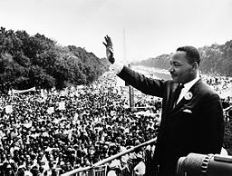 """Martin Luther King Jr. addresses a crowd from the steps of the Lincoln Memorial where he delivered his famous, """"I Have a Dream,"""" speech during the Aug. 28, 1963, march on Washington, D.C."""
