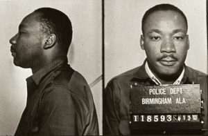 Mugshot of Martin Luther King Jr following his 1963 arrest in Birmingham
