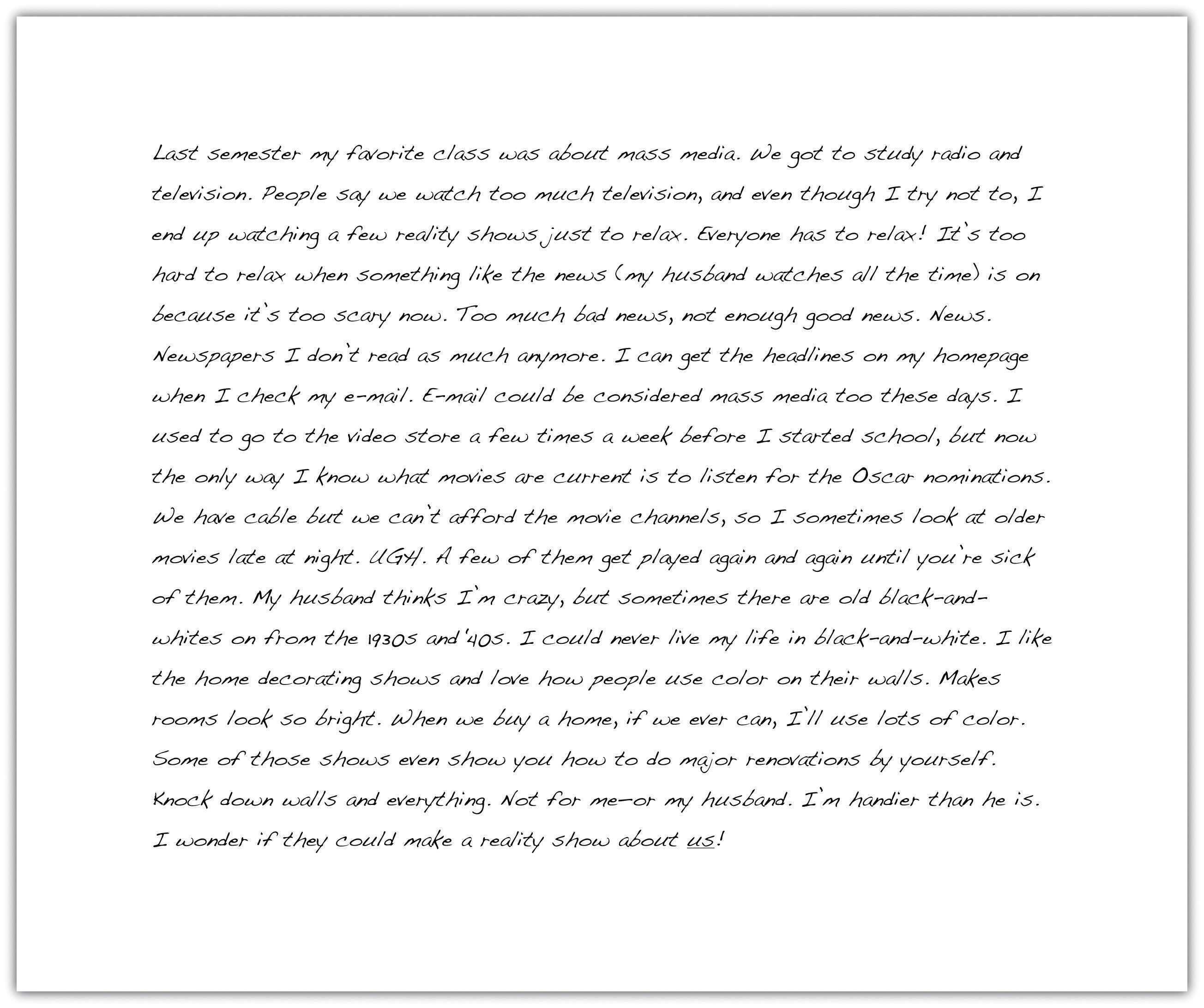 A sample essay