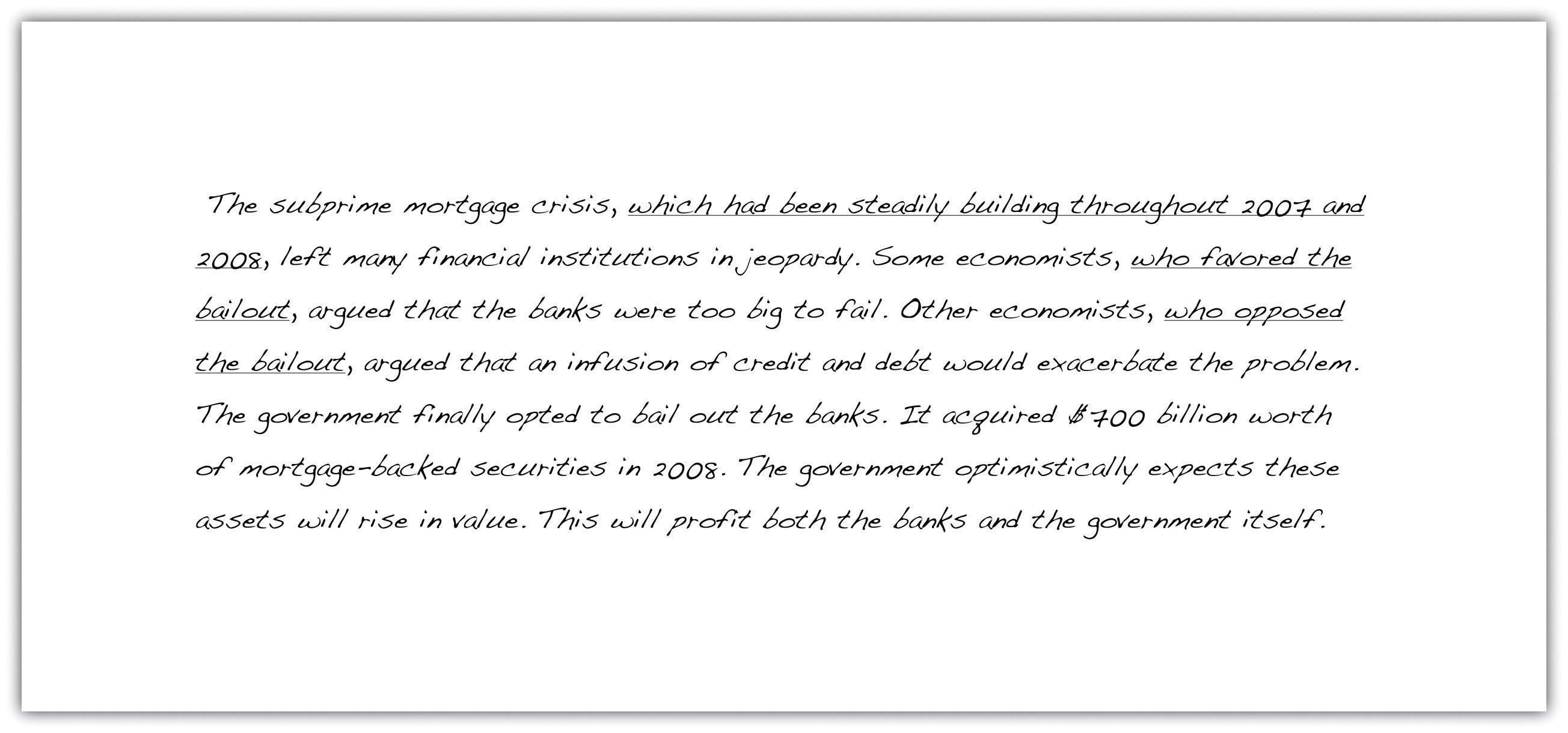 Sentence Variety  Writing For Success The Subprime Mortgage Crisis Which Had Been Steadily Building Throughout   And  Left
