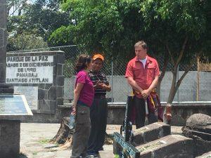 working in Guatemala - three people talking
