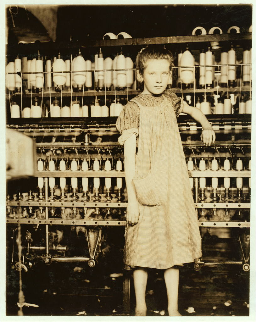 12-year old textile mill worker