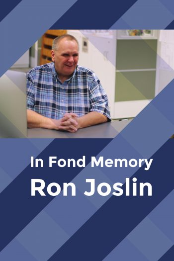 Cover image for In Fond Memory: Ron Joslin