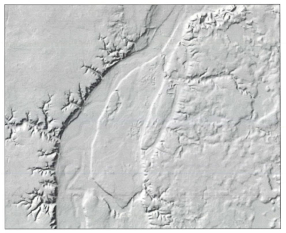 digital shaded relief: Kasota Prairie