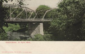 Postcard of Kasota Bridge