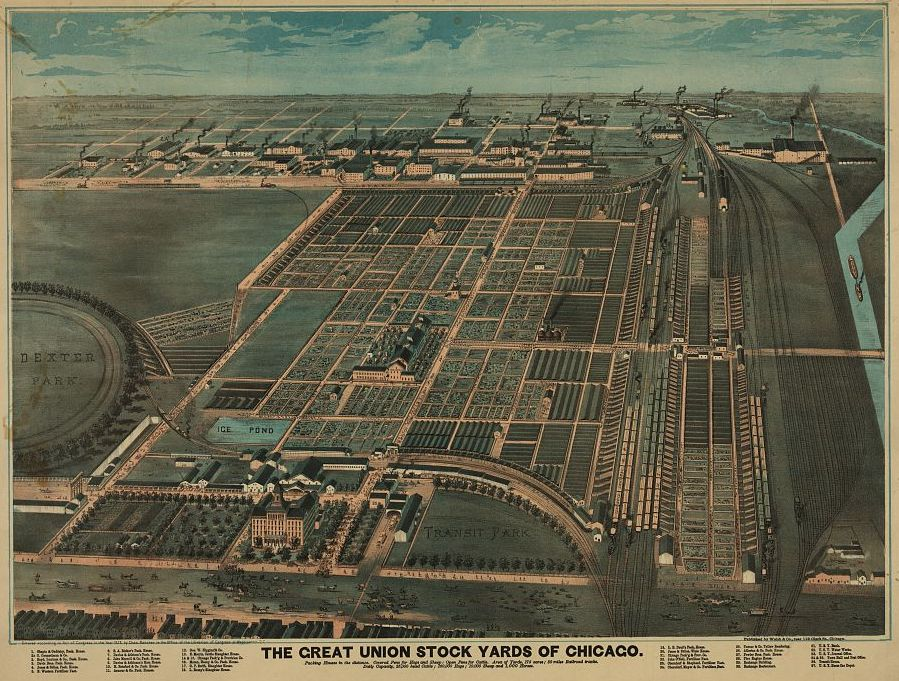 1878 view of Union Stock Yard, Chicago