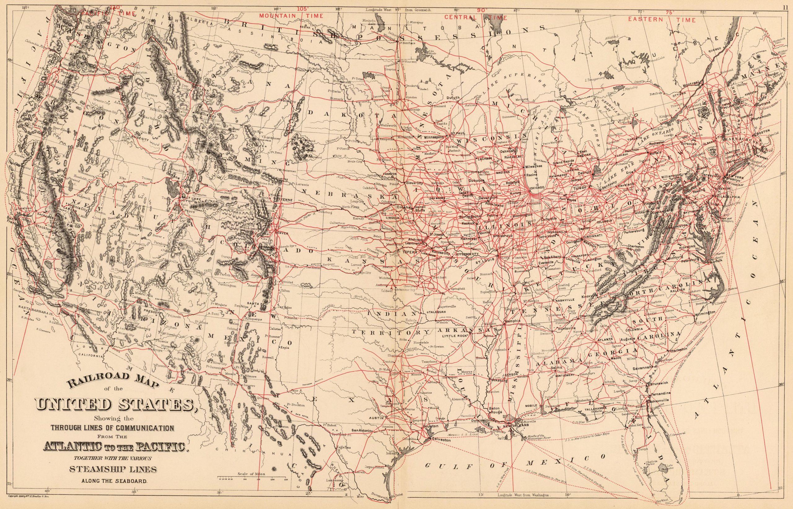 1886 Railroad map