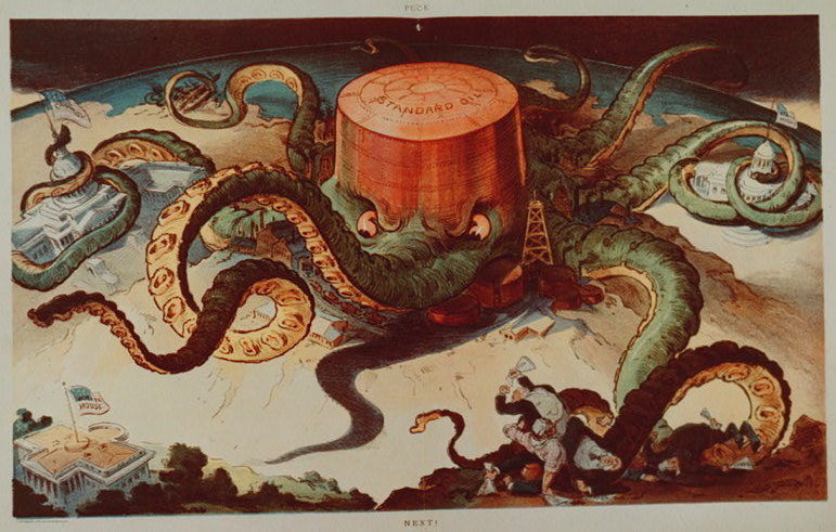 Puck cartoon of Standard Oil as Octopus