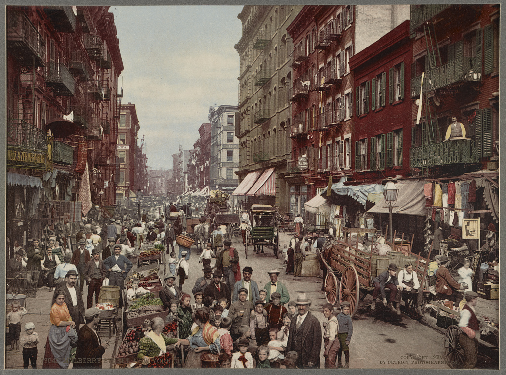 Mulberry Street, New York, ca. 1900