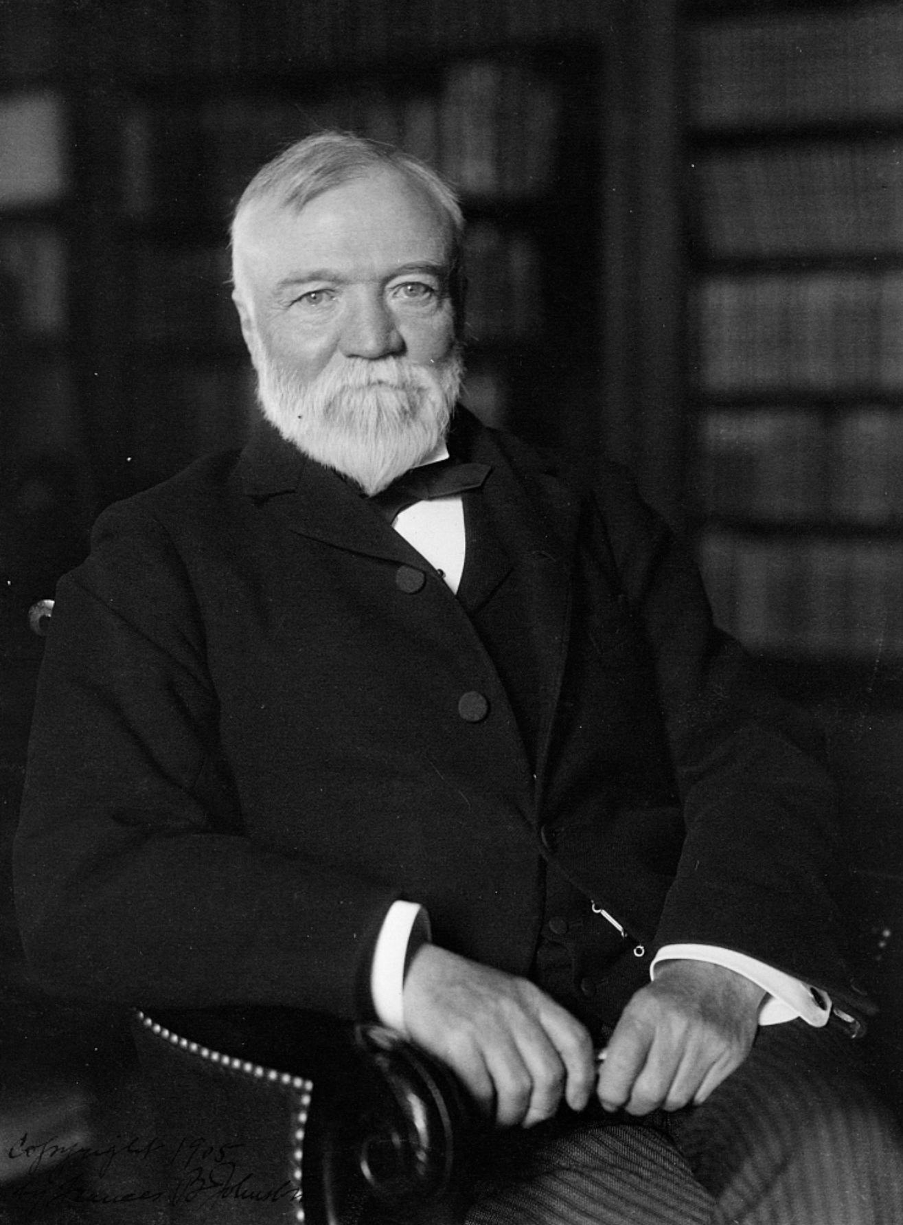 Andrew Carnegie, 1905