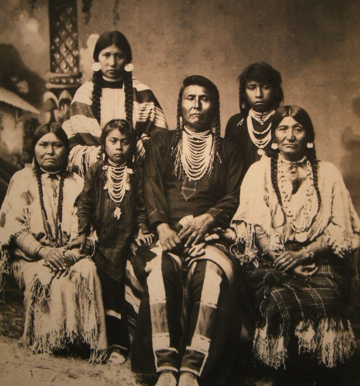 Chief Joseph and family, c. 1880