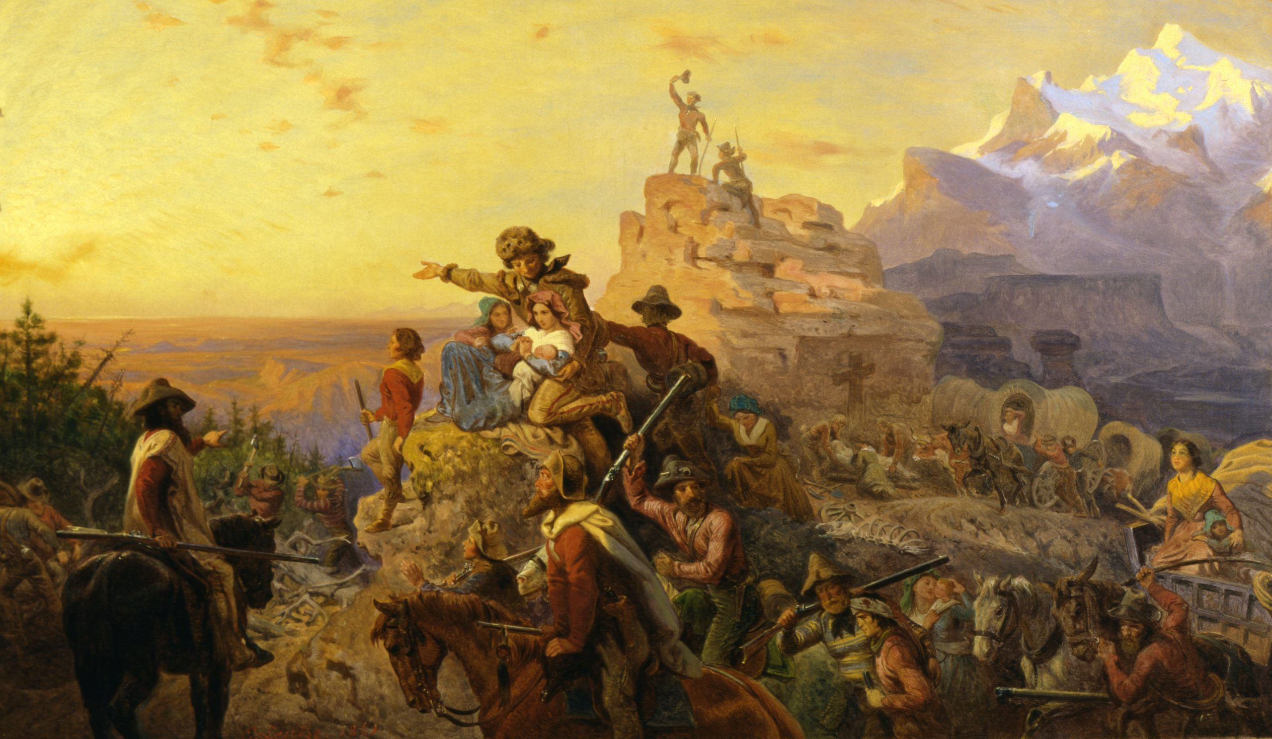 "Emanuel Leutze's painting ""Westward the Course of Empire Takes Its Way"" (1861)."