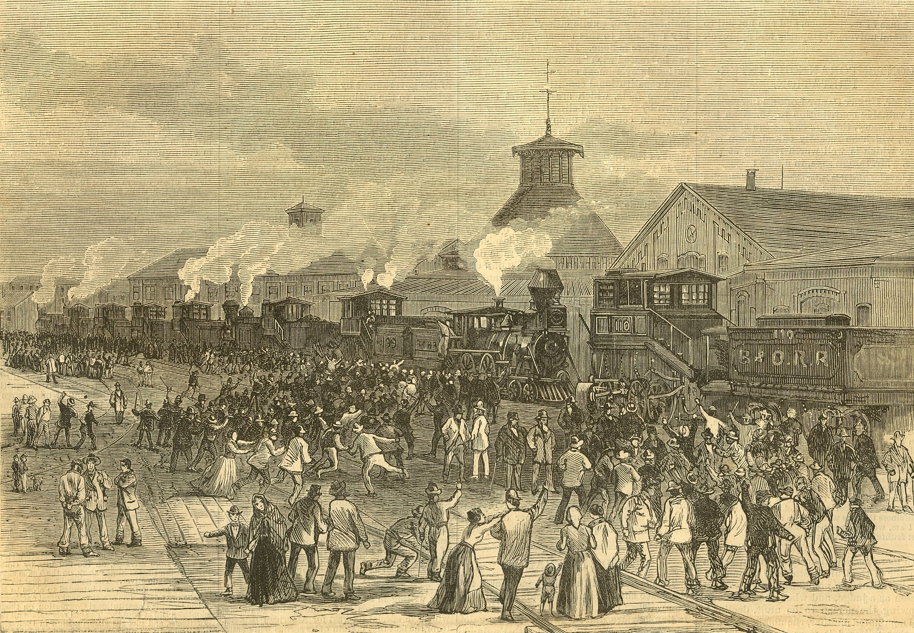 Blockade of Engines at Martinsburg