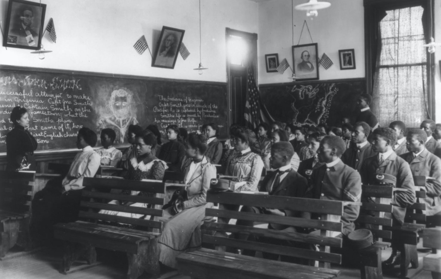 History class at Tuskegee, 1902.