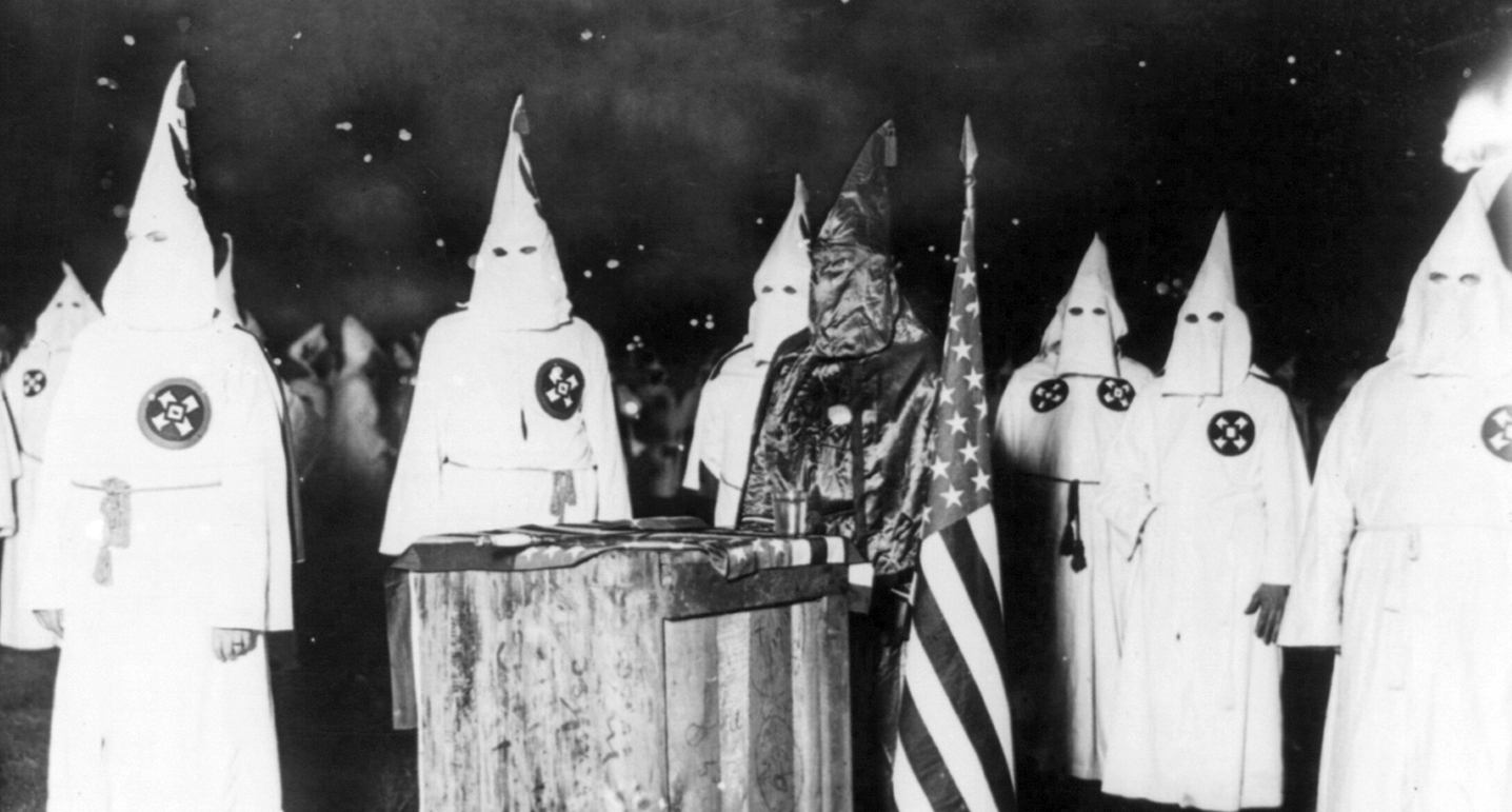 KKK night rally, Chicago, 1920.