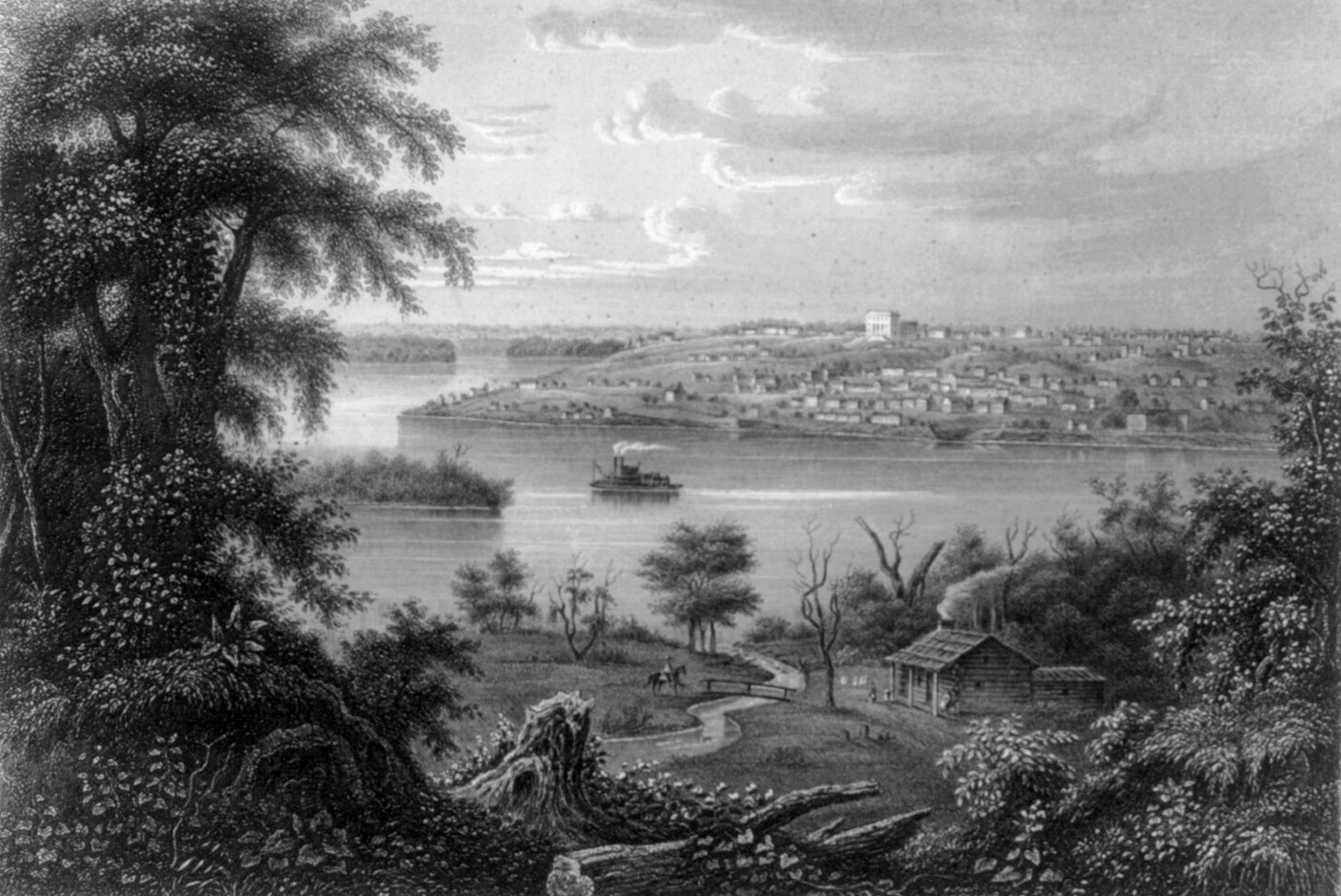 A view of Nauvoo in 1855