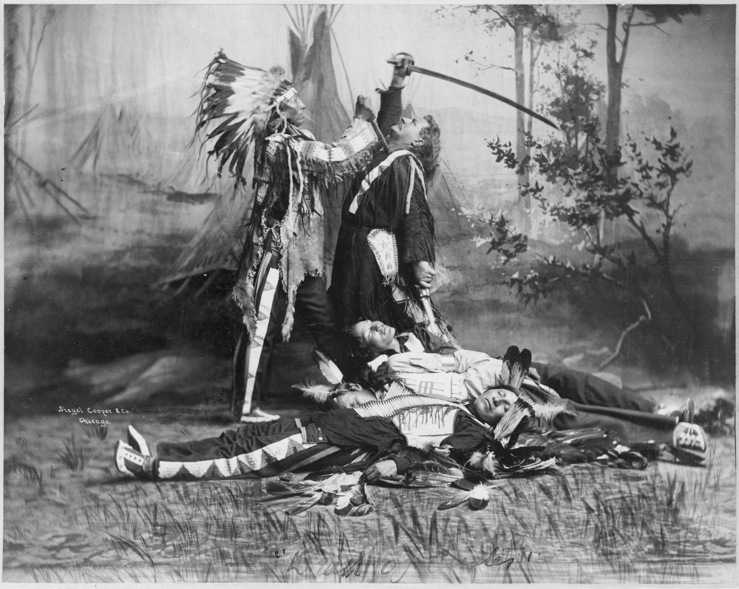 Death of Custer scene by Pawnee Bill's Wild West Show