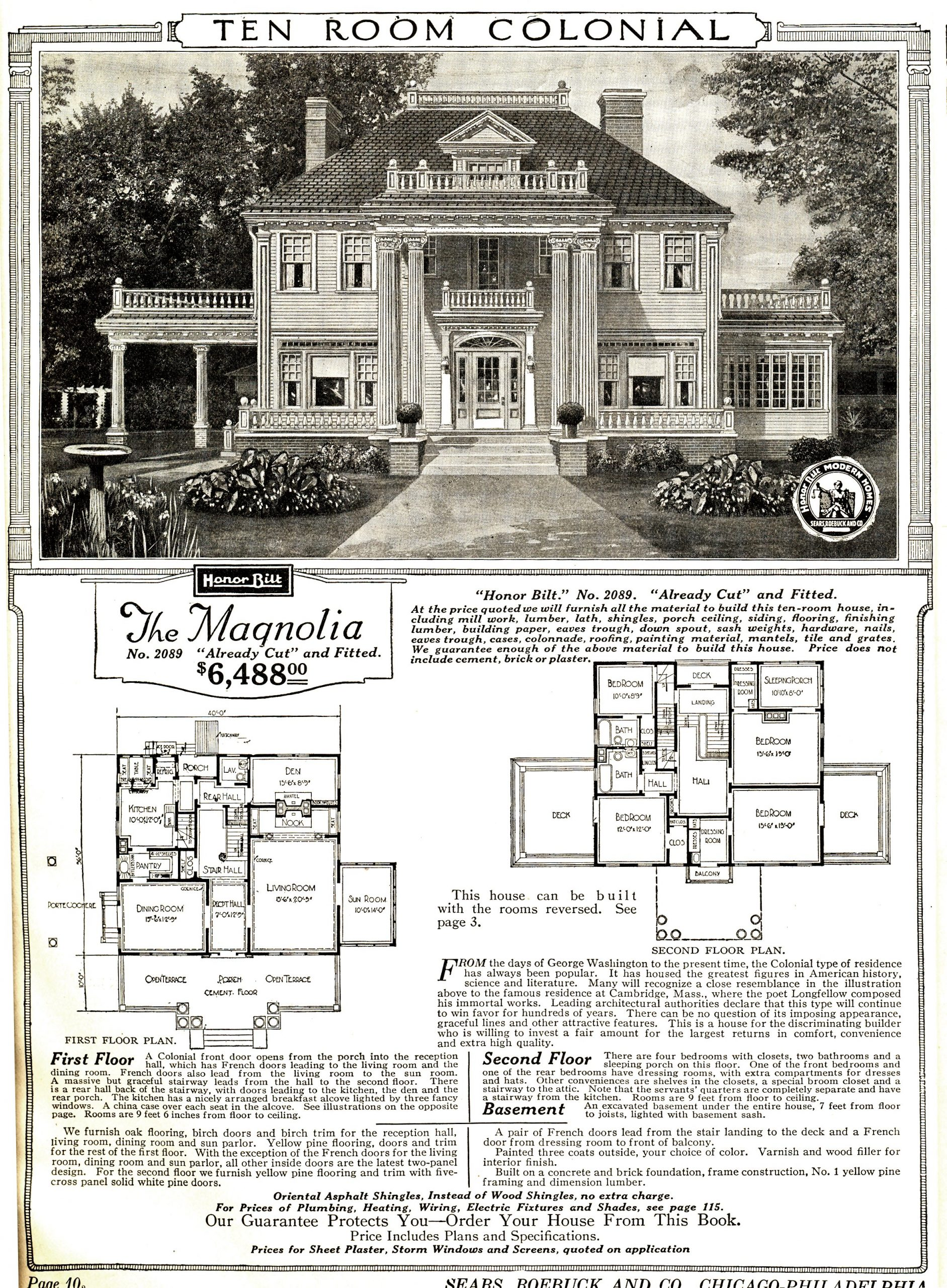 Sears Modern Home catalog page