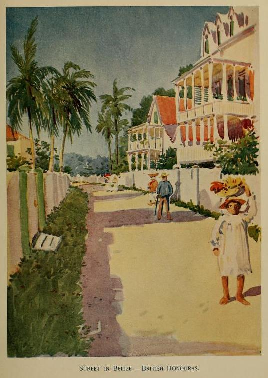 Illustration from a United Fruit Company booklet promoting Caribbean tourism.
