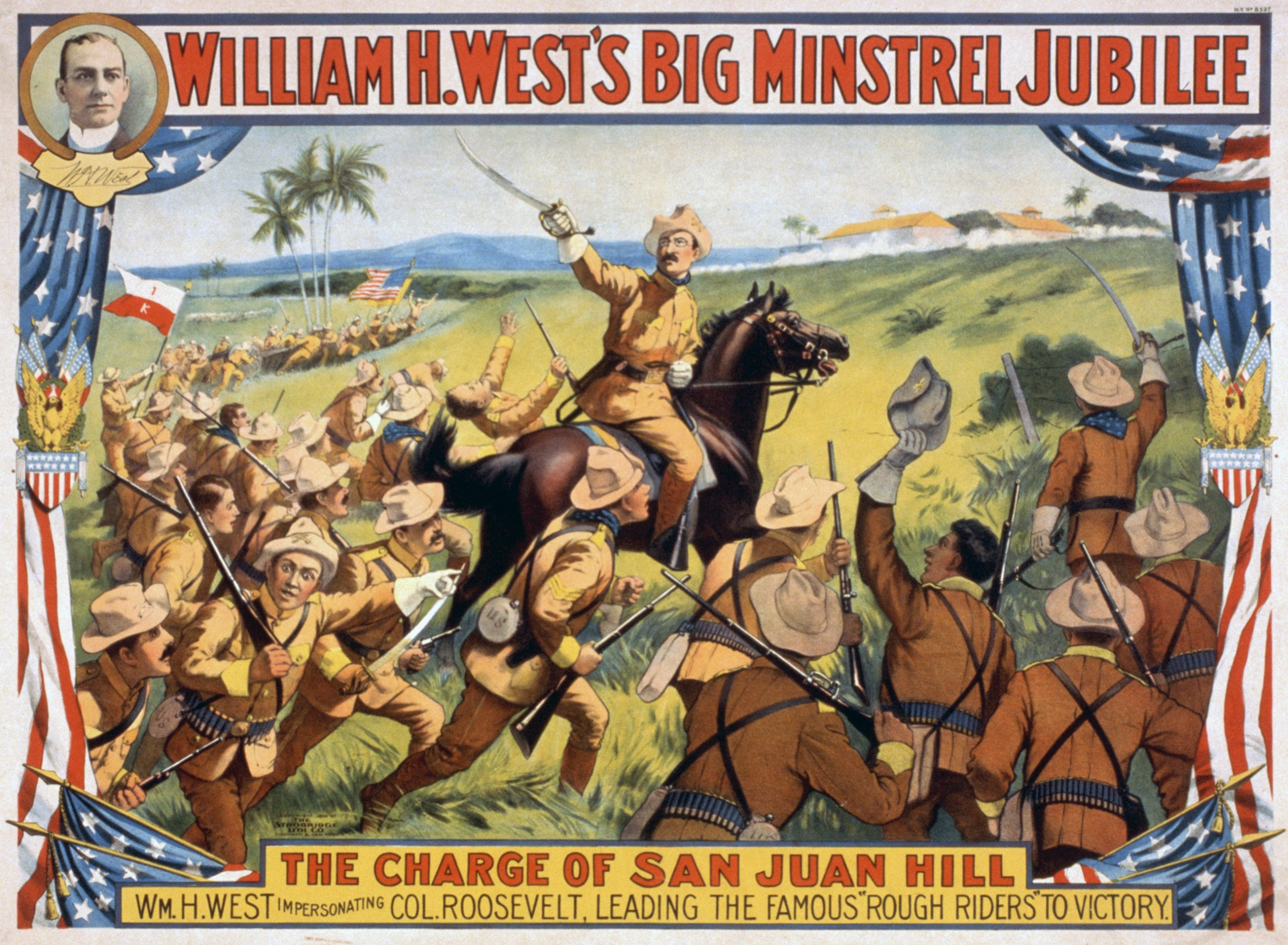Roosevelt's charge up San Juan Hill