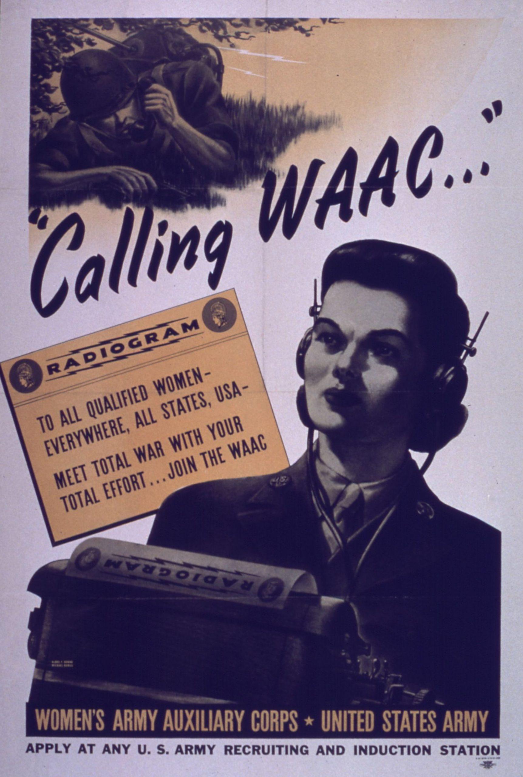 Calling WAAC poster