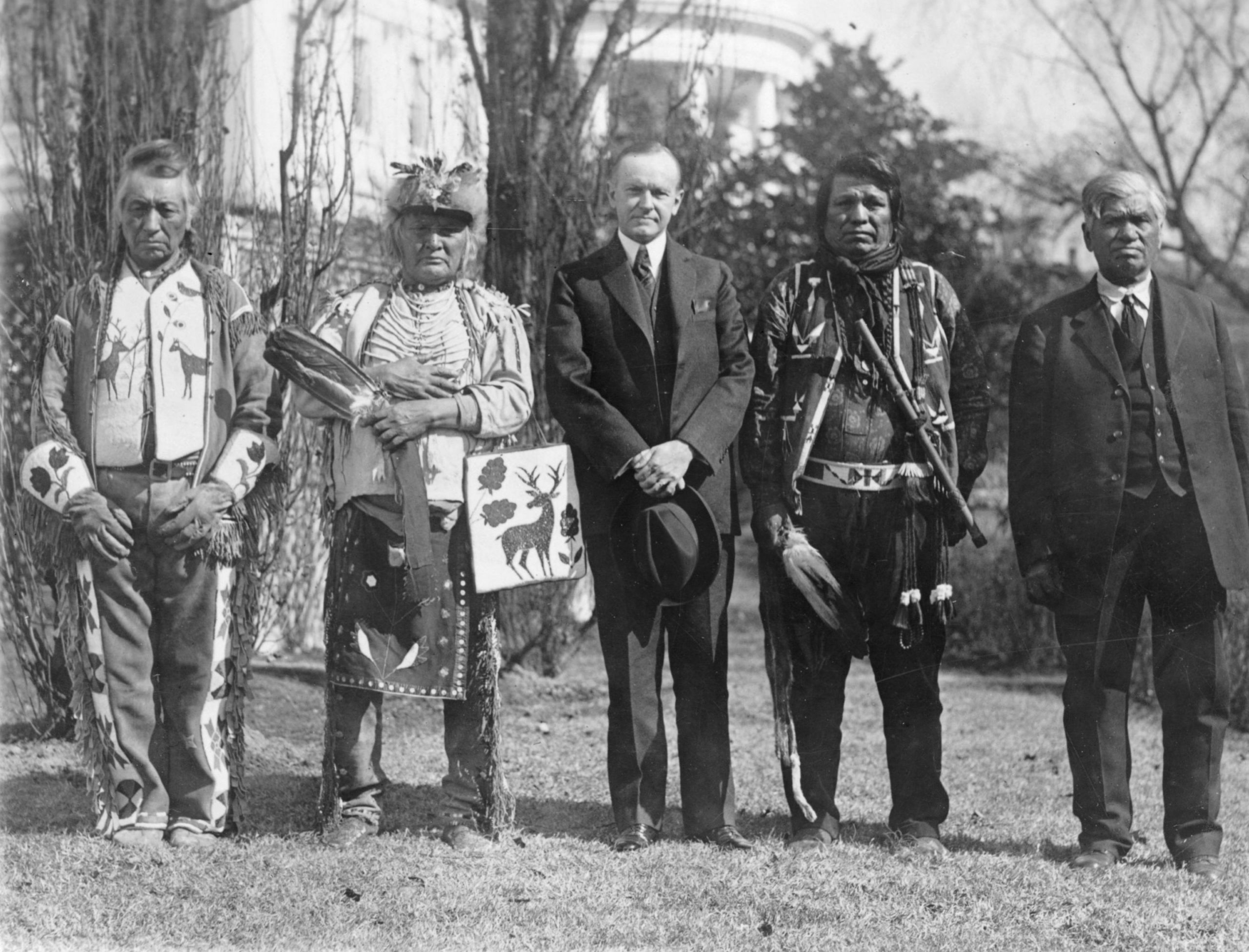 Osage men with Coolidge