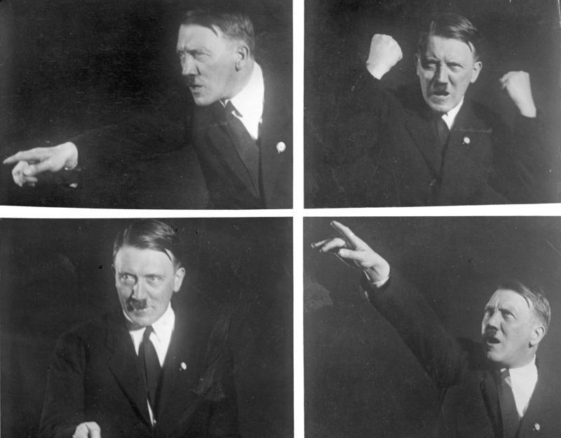 Hitler posing